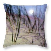 A View Of A Full Moon Rising Throw Pillow
