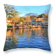 A View Of Disneyland From Tom Sawyer Island  Throw Pillow