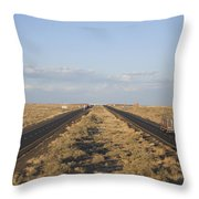 A View Of Interstate 40, Arizona Usa Throw Pillow