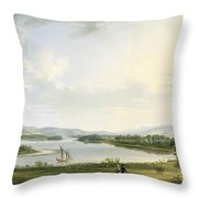 A View Of Knock Ninney And Part Of Lough Erne From Bellisle - County Fermanagh  Throw Pillow