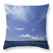A View Of Lake Superior And Sky At Isle Throw Pillow