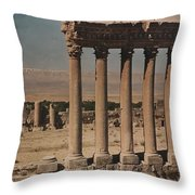 A View Of More Ruins From The Columns Throw Pillow
