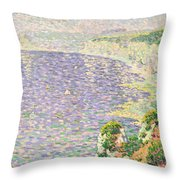A View Of The Cliffs Of Etretat Throw Pillow by Claude Emile Schuffenecker