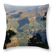 A View Of The Grand Canyon Throw Pillow