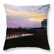 A View Of The Lincoln Memorial Throw Pillow