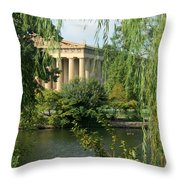 A View Of The Parthenon 1 Throw Pillow by Douglas Barnett