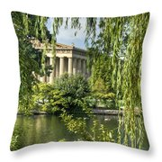 A View Of The Parthenon 10 Throw Pillow by Douglas Barnett