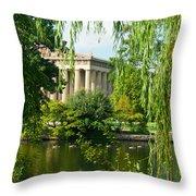 A View Of The Parthenon 12 Throw Pillow