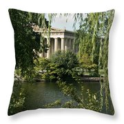 A View Of The Parthenon 6 Throw Pillow by Douglas Barnett