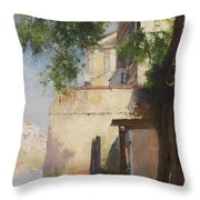 A View Of Venice From A Terrace Throw Pillow