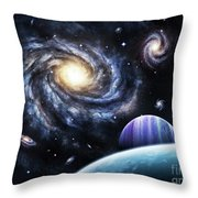 A View To A Nearby Galaxy From A Gas Throw Pillow
