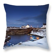 A Village On The Coast Seaton Sluice Throw Pillow