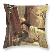 A Visit To The Studio Throw Pillow