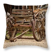 A Wagon And Wheels Throw Pillow