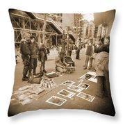 A Walk Through Paris 6 Throw Pillow