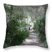 a walk about fairy wood - Mediterranean autumn forest Throw Pillow