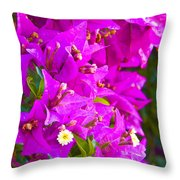 A Wall Of Flowers Throw Pillow