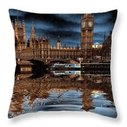 A Wet Day In London Throw Pillow