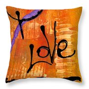 A Whirlwind Called Love Throw Pillow