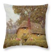A Wiltshire Garden Throw Pillow