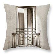 A Window In Paris Throw Pillow