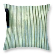A Window In The Wall Of Wood Throw Pillow