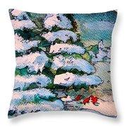 A Winter Feast Throw Pillow
