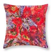 A Winter Healing Garden Throw Pillow