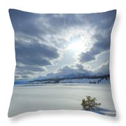A Winter Sky Throw Pillow by Idaho Scenic Images Linda Lantzy