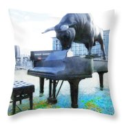 A World Of Art And Music Throw Pillow