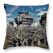 A World Stripped Bare From The Effects Throw Pillow