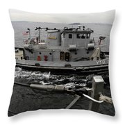 A Yokosuka Naval Tugboat Prepares Throw Pillow