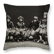 A Young Group Of Well Dressed Nepali Throw Pillow