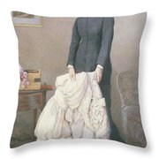A Young Widow Throw Pillow