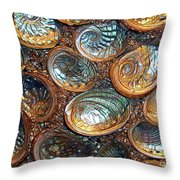 Abalones Throw Pillow by Judi Bagwell