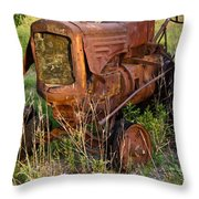 Abandonded Farm Tractor 1 Throw Pillow