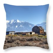 Abandonded Homestead In San Luis Valley Throw Pillow