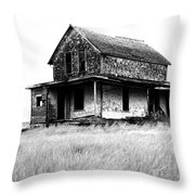 Abandoned And Alone Throw Pillow
