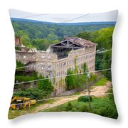 Abandoned Armory Throw Pillow