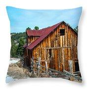 Abandoned Barn Ll Throw Pillow