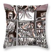 Abandoned Building Playground In The Bronx  Nyc Throw Pillow