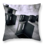 Abandoned Cities Of The Mind Throw Pillow