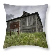 Abandoned Farm Throw Pillow