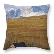 Abandoned Farmhouse Outside Of Waterton Throw Pillow