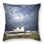 Abandoned Fishing Boat In Washington State Throw Pillow
