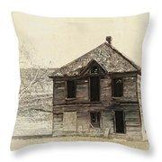 Abandoned Homestead - Okanogan Washington Throw Pillow