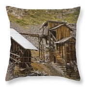 Abandoned Mine Throw Pillow