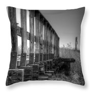 Abandoned Railway  Throw Pillow