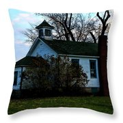 Abandoned School House Throw Pillow