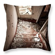 Abandoned Stairs 2 Throw Pillow